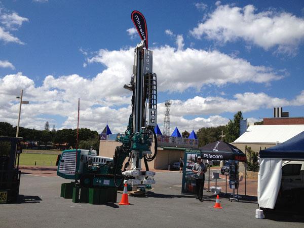 Grande Aço Empilhar Participou De Exposições Western Mining Australiano Na Austrália
