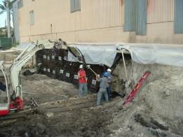 Escavação Estacas pranchas paredes
