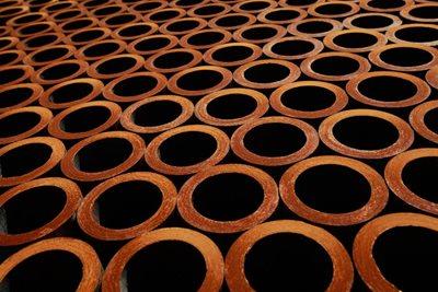 Isolamento de tubos redondos para tubos